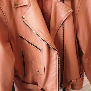 Pink leather jacket size 3X
